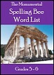 Monumental Spelling Bee Lists