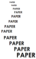 the word PAPER written many times in a winding path