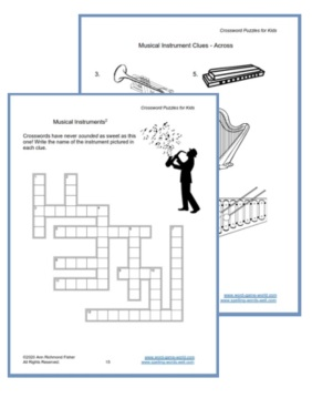 Crossword Puzzles For Kids Ebook