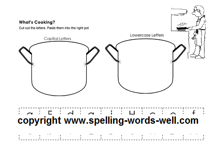 pre kindergarten worksheet that features practice in identifying upper and lower case letters