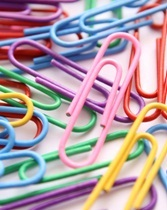 pile of colored paper clips