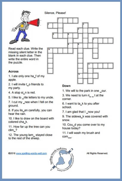 image about Puzzles for Kids Printable named Printable Crossword Puzzles for Young children