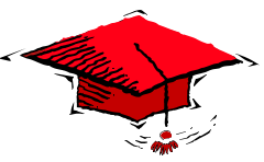 Red graduation cap from our homeschool worksheets