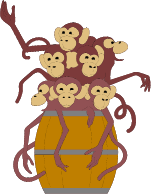 A barrel full of monkeys