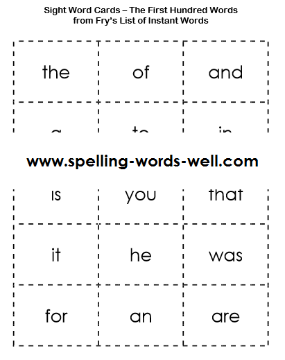 fry printable  411  519 File sight  cards sight fry.png cards : word x word : Name Resolution pixel