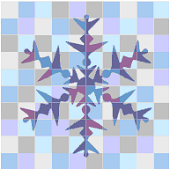 Big snowflake from