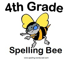 4th Grade Spelling Bee - free clip art image from #spellingwordswell