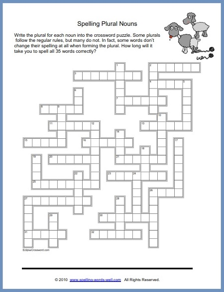 Fun Spelling Puzzles Worksheets