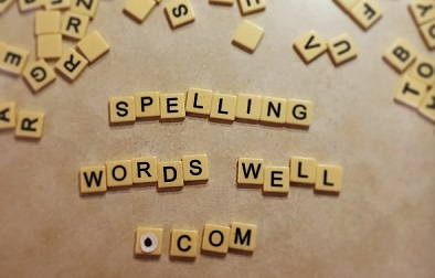 Spelling Words Well spelled with Scrabble Tiles