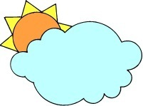 Sun and clouds from our Antonyms Crossword Puzzle for Kids. See more #kidscrosswords at www.spelling-words-well.com