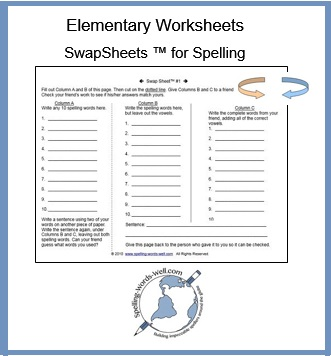 elementary worksheet - Swap Sheet