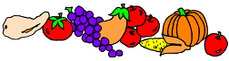 border of fruits and veggies