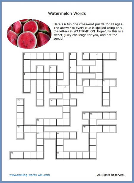 It is a picture of Printable Movie Crossword Puzzles within easy